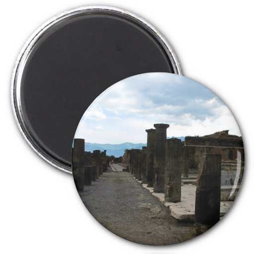 The FORUM OF POMPEII - Column fragments Magnets