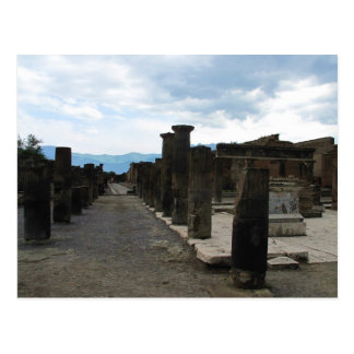 The FORUM OF POMPEII - Column fragments Post Cards