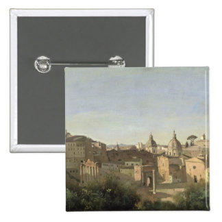 The Forum seen from the Farnese Gardens 2 Inch Square Button