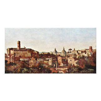 The Forum Seen From The Farnese Gardens By Corot J Photo Card