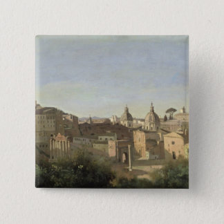 The Forum seen from the Farnese Gardens Pinback Button
