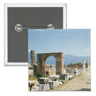 The Forum with the mountains in the background 2 Inch Square Button