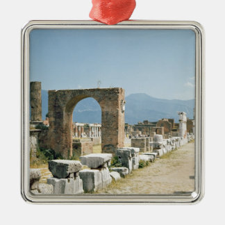 The Forum with the mountains in the background Christmas Tree Ornament