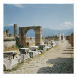 The Forum with the mountains in the background Poster