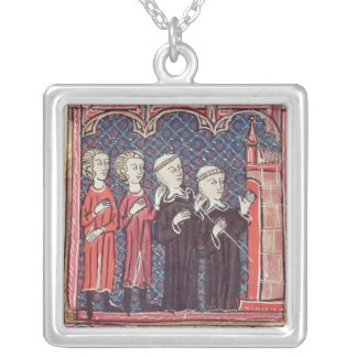 The Foundation of a Monastery Silver Plated Necklace