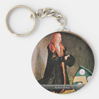 The Founder Jacob Heller With Coat Of Arms Keychains