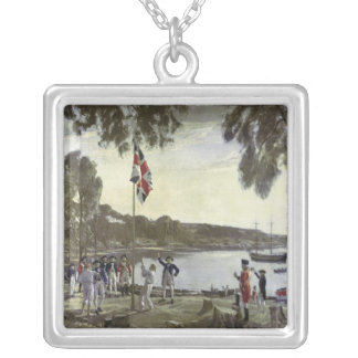 The Founding of Australia by Capt. Arthur Silver Plated Necklace