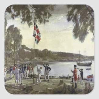 The Founding of Australia by Capt. Arthur Square Sticker