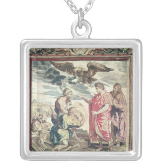 The Founding of Constantinople Silver Plated Necklace