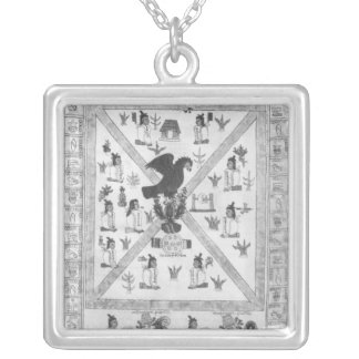 The Founding of Tenochtitlan Silver Plated Necklace
