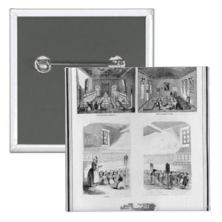 The foundling home 2 inch square button