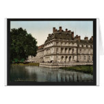 The fountain and carp's Pond, Fontainebleau Palace Greeting Cards