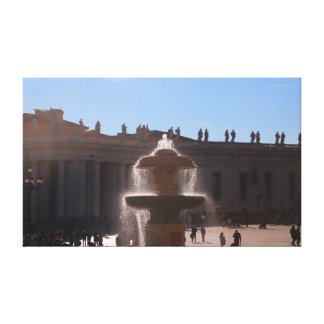 the fountain at St. Peter's Basilica Canvas Print