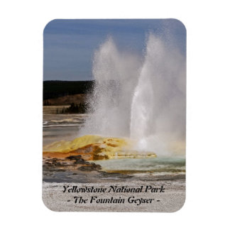 THE FOUNTAIN GEYSER, YELLOWSTONE NATIONAL PARK RECTANGLE MAGNET