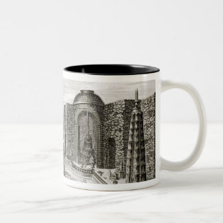 The fountain in the maze at the Princely Pleasure Two-Tone Coffee Mug