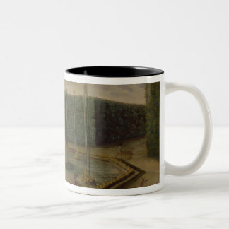 The Fountain of Bacchus at Versailles Two-Tone Coffee Mug