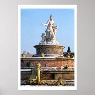 The Fountain of Latona with central figure of Lato Print