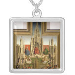 The Fountain of Life Square Pendant Necklace