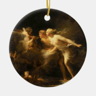 The Fountain of Love by Jean-Honore Fragonard 1785 Ceramic Ornament