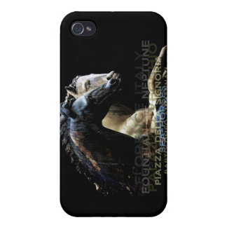 The Fountain of Neptune -Sea-horses Covers For iPhone 4