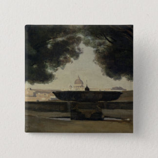 The Fountain of the French Academy in Rome Pinback Button