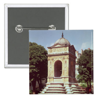 The Fountain of the Innocents, c.1550 2 Inch Square Button