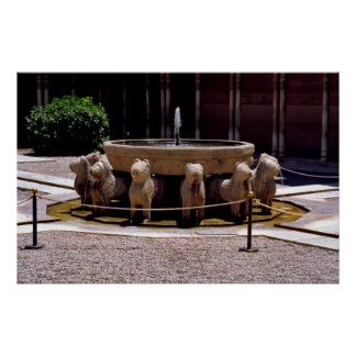 The fountain of the Lions, The Alhambra,  Granada, Posters