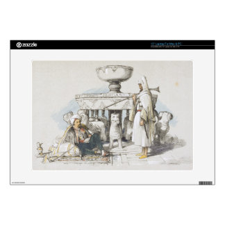 """The Fountain of the Lions, Vignette from 'Sketches 15"""" Laptop Decal"""