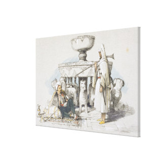 The Fountain of the Lions, Vignette from 'Sketches Canvas Print