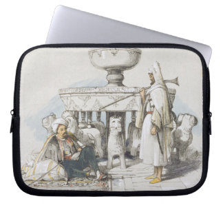 The Fountain of the Lions Vignette from Sketches Laptop Sleeves