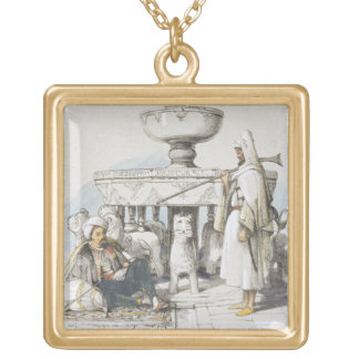 The Fountain of the Lions, Vignette from 'Sketches Personalized Necklace