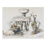The Fountain of the Lions, Vignette from 'Sketches Postcard