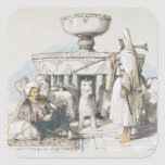 The Fountain of the Lions, Vignette from 'Sketches Square Sticker
