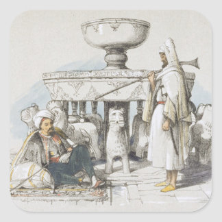 The Fountain of the Lions, Vignette from 'Sketches Sticker