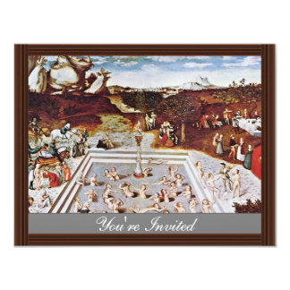 The Fountain Of Youth By Cranach D. Ä. Lucas (Best 4.25x5.5 Paper Invitation Card