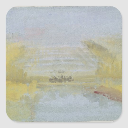 The Fountains at Versailles, 1826-33 Square Sticker