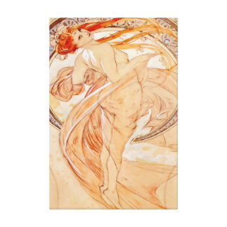 The Four Arts - Dance, Art Nouveau Canvas Print