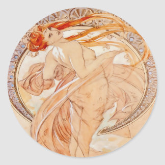 The Four Arts - Dance, Art Nouveau Vintage Classic Round Sticker