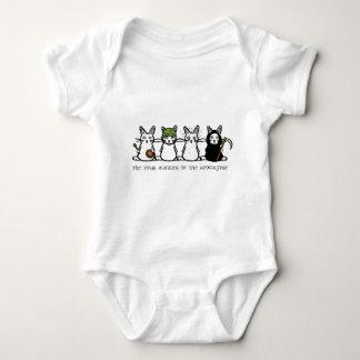 The Four Bunnies of the Apocalypse Baby Bodysuit