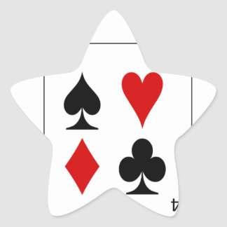 The four card suits. star sticker