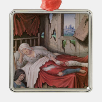 The Four Conditions of Society: Poverty Square Metal Christmas Ornament