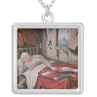 The Four Conditions of Society: Poverty Silver Plated Necklace