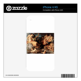 The Four Continents by Peter Paul Rubens Decals For iPhone 4