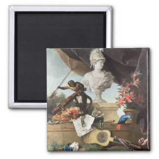 The Four Continents: Europe, 1722 (oil on canvas) 2 Inch Square Magnet