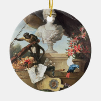 The Four Continents: Europe, 1722 (oil on canvas) Ceramic Ornament