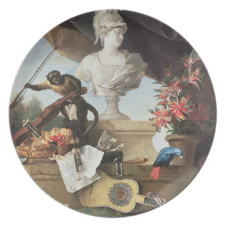 The Four Continents: Europe, 1722 (oil on canvas) Dinner Plates