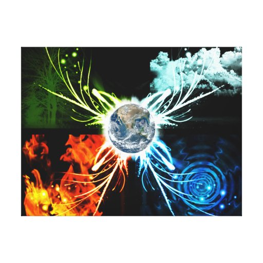 The Four Elements Canvas Prints