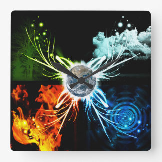 The Four Elements Wall Clock