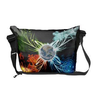 The Four Elements Messenger Bags