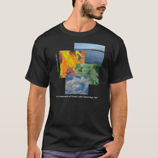 the four elements of a lake tee shirt
